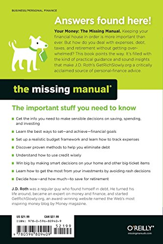 Your Money: The Missing Manual your money the missing manual