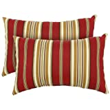 Greendale Home Fashions Rectangle Indoor/Outdoor Accent Pillows, Roma Stripe, Set of 2