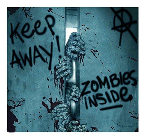 Zombies Inside Plastic Wall Mural Halloween Decoration Decor Door Cover