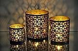 Logam Geo Moroccan Tea Light Votive Holders(Set of three)