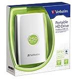 Verbatim 2.5'ポータブルハードディスクドライブ 250GB コンボタイプ FireWire USB HDPC250GVS