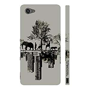 Sony Xperia Z5 Compact Forest Vs City designer mobile hard shell case by Enthopia