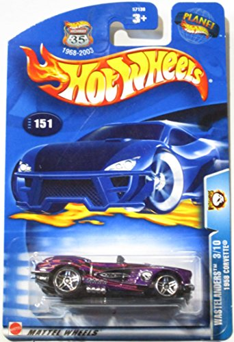 Wastelanders #3 1958 Corvette #2003-151 Collectible Collector Car Mattel Hot Wheels - 1