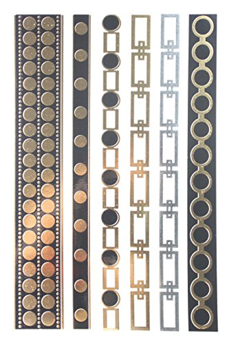Gold & Silver & design de bijoux noir métallisé