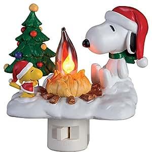 Peanuts Snoopy Amp Woodstock Flickering Glowing Campfire