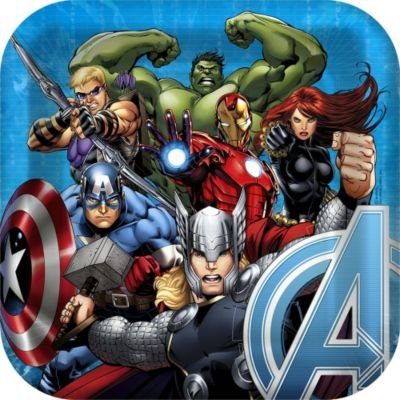 "Avengers Assemble 9"" Square Lunch/Dinner Paper Plates (8 ct)"