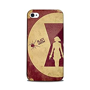 Yashas Iphone 4 / iPhone 4S Designer Printed Case & Covers (Iphone 4/ 4S Back Cover) - Black Widow
