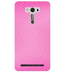 Chiraiyaa Designer Printed Premium Back Cover Case for Asus Zenfone Selfie (pink boy girl friend valentine miss kiss pattern) (Multicolor)