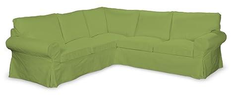 FRANC-textile 640–702–27 ektorp ecksofabezug coton panama housse citron vert