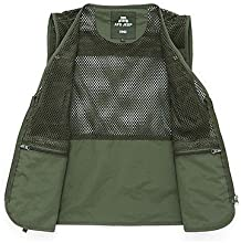 AFS JEEP 162242Muti-porket Gridding Waistcoat Vest for Outdoor Photographer Director XXL  Green
