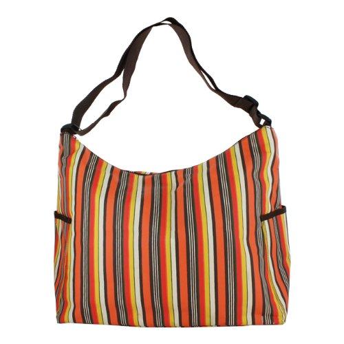 Baby & Co. Hobo Harvest Stripes Zippered Top Diaper Bag