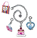 CHARM IT! Disney Princess Cinderella Castle & Glass Slipper Charms & Bracelet Pouch Set