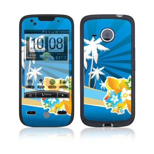 Tropical Station Protective Skin Cover Decal Sticker for HTC Droid Eris Cell Phone