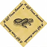 Pack of 12 PERSONALISED Parchment 6cm Square Gift Tags Adder