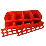 Stackable Plastic Storage Boxes, Pack Of 8. Perfect For Tools, Garage Storageby Blackspur
