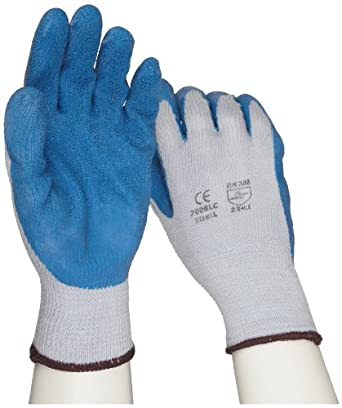 West Chester 700SLC Cotton/Polyester Glove, Latex Palm Coating, Rib Knit Wrist Cuff