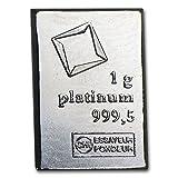 【プラチナバー】 スイス Valcambi プラチナバー 1g スイス・ヴァルカンビ社発行 1gの純プラチナ Pt Platinum 白金 保証書付き