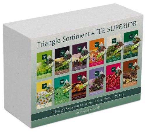 TEA SUPERIOR Set with 48 Triangle sachets, 142 g