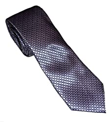 Croft & Barrow Men's Pattern Tie With Hanky & Cuff Link Set (Purple)