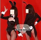 コスプレ衣装 バニーガール用燕尾ジャケット*黒ハロウィーン仮装 ディズニー オーダー可能