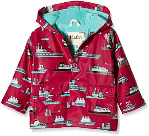 Hatley Baby Ocean Liner Infant Raincoat, Red, 18-24 Months