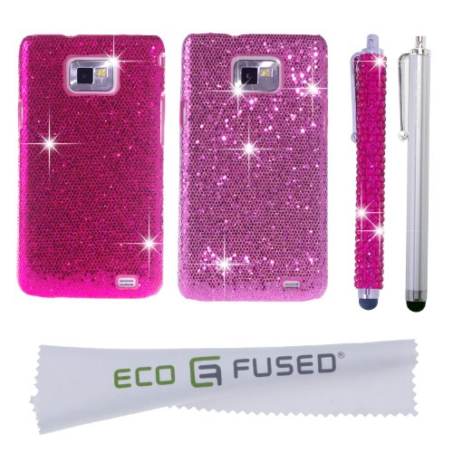 TWO Bling (Hot Pink and Pink) *GLITTER* Cases