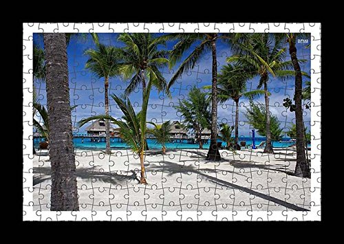 puzzle-style-pre-assembles-imprimer-mur-de-palm-trees-on-a-sandy-beach-by-lisa-loft