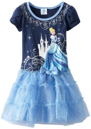 Disney Little Girls' Cinderella Light Blue Tutu Dress