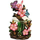 Butterfly and Flowers Polyresin Electric Tart/Oil Warmer