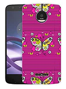 "Butterflies World Printed Designer Mobile Back Cover For ""Motorola Moto Z Force"" (3D, Matte, Premium Quality Snap On Case)"