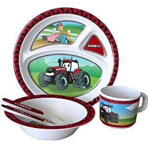 Case IH Big Red 5-Piece Children's Melamine Tableware Set by R&D Enterprises/Motorhead Products