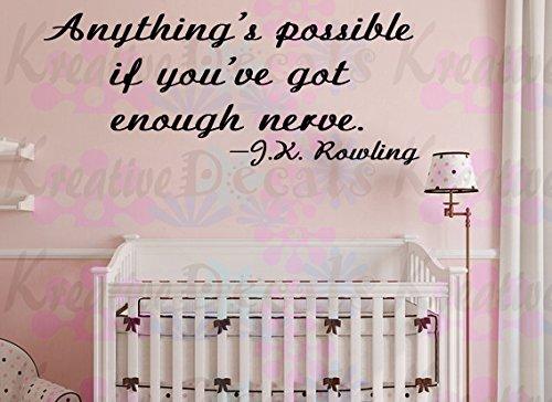 Nervo possibile se hai abbastanza del nulla. J.K. Rowling Quote, Vinile, Rosa, 10x16