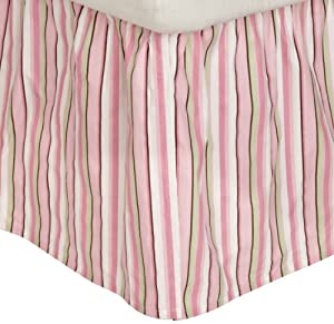 Carters Everyday Easy Dust Ruffle, Pink/Green/Brown