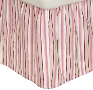 Carters Everyday Easy Dust Ruffle, Pink/Green/Brown (Discontinued by Manufacturer)