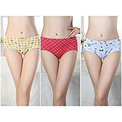 Gojilove Women's Menstrual Proof, Anti-Leaking and Water Proof Panty Printed - Combo of 3_M