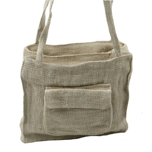 Hemp Fabric Shoulder Bag &#8211; Small W04S65F