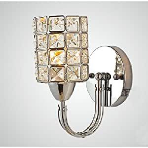 Crystal Wall Sconces Bathroom : Amazon.com - Modern Simple Bedsides Crystal Wall Lamp Bathroom Wall Sconces Corridor Bedroom ...