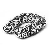 Shopboxx Monochrome U -Shaped Memory Foam Travel Neck Pillow