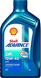 Shell Advance AX7 550031394 10W-40 Synthetic Technology Motorbike Engine Oil (1 L)