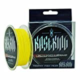 KastKing SuperPower Hi-Vis Yellow 300m/330-Yard Braid Super Fishing Line, 30-Pound
