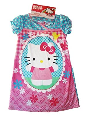 Hello Kitty Girls Night Gown with Hair Band Toddler 2T-4T