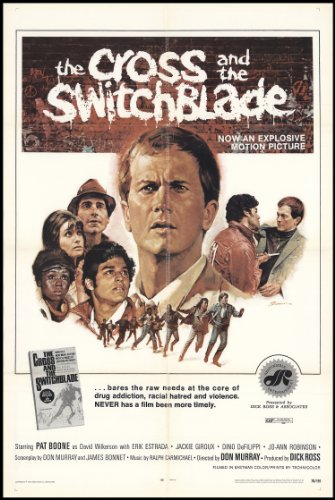 "The Cross And The Switchblade 1970 Original Movie Poster Biography Crime Drama - Dimensions: 27"" X 41"""