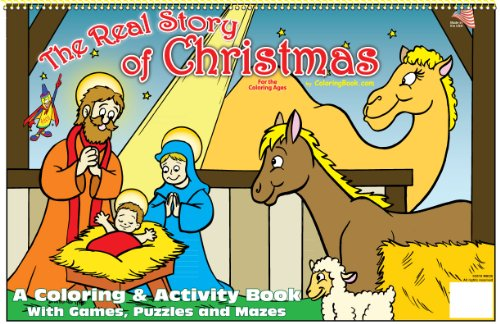 The Real Story of Christmas Coloring Book (17x11)