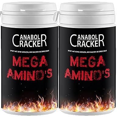 2X Mega Aminosäuren, 60 Kapseln, L-Arginin, Ornithin HCL, Zink und Vitamin C, Sonderangebot