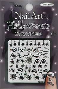 Nail-Art Sticker Halloween Design NSB-01-Multi Black