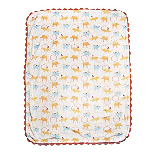 Kidsline Who's At The Zoo Velour Rick-Rack Blanket