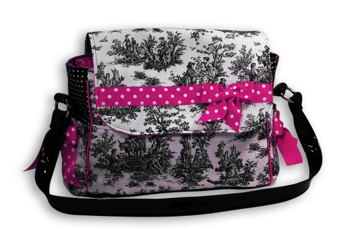 Caught Ya Lookin' Large Diaper Bag, Pink Toile