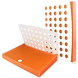 Shuter Expanding Shuter Accordion File Folder, A4 / Letter Size, 6 Pockets (Orange)