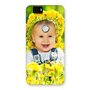 Gorgeous Laughing Baby Girl Back Case Cover for Google Nexus-6P