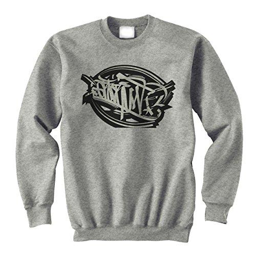 Graffitti Hip Hop Rap Black Grey Large Unisex Sweater